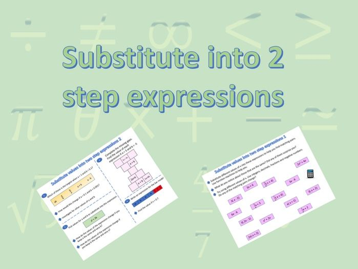 Substitute into 2 step expressions (Substitution)