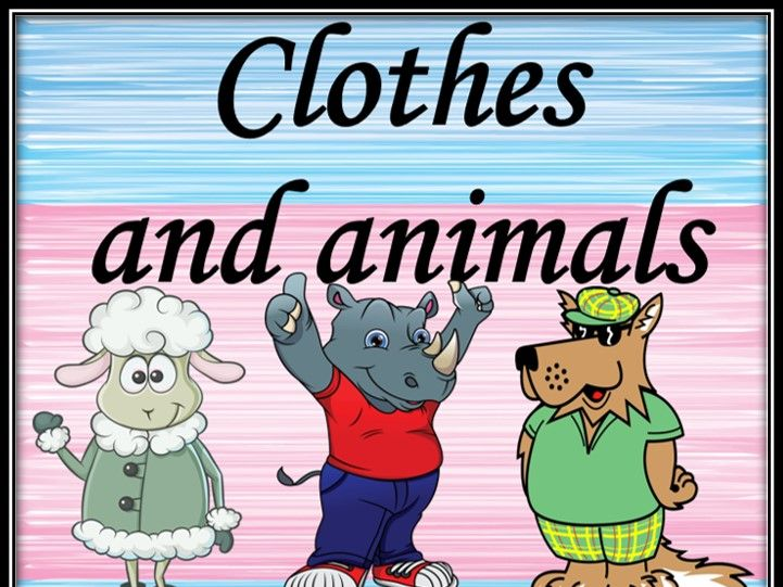 Clothes and animals. Guessing game.