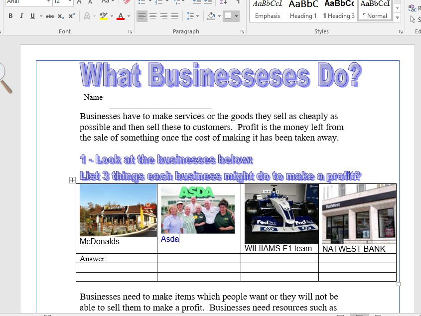 Introductory/Learn About Why Businesses Exist And The Variety of Enterprises