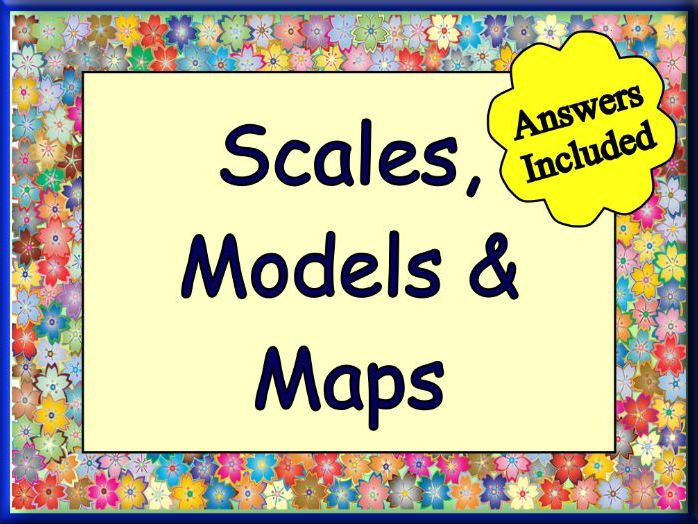 Ratio Scales - Great Worksheet with 30 Questions + Answers