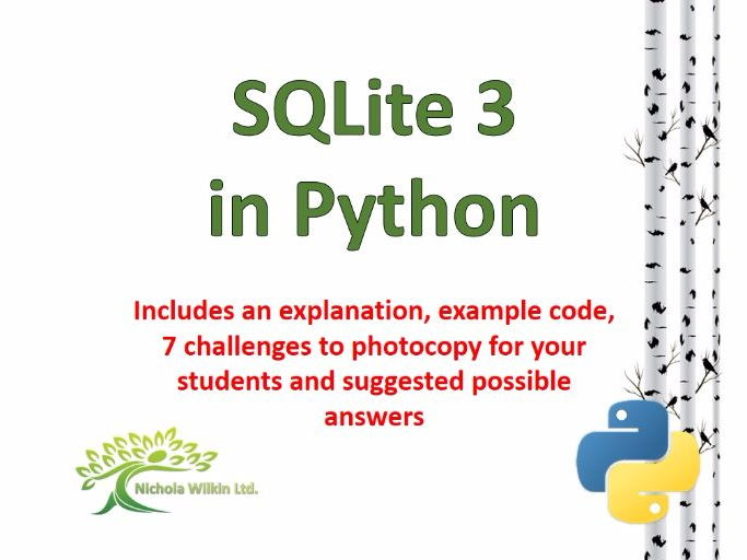 SQLite 3 (Ready to use challenges for Python)