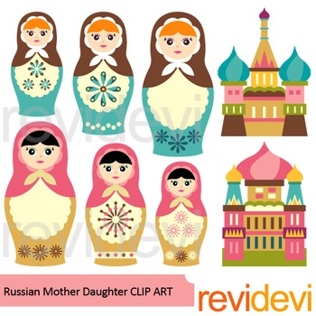 Russian Nesting Dolls clip art
