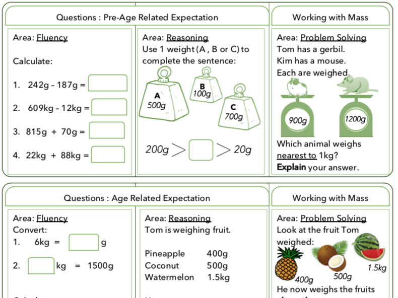 Year 4 Maths: Differentiated Questions