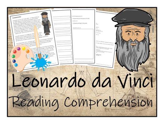 UKS2 Literacy - Leonardo da Vinci Reading Comprehension Activity