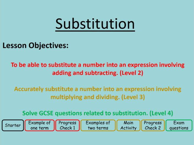 Substitution (Differentiated)