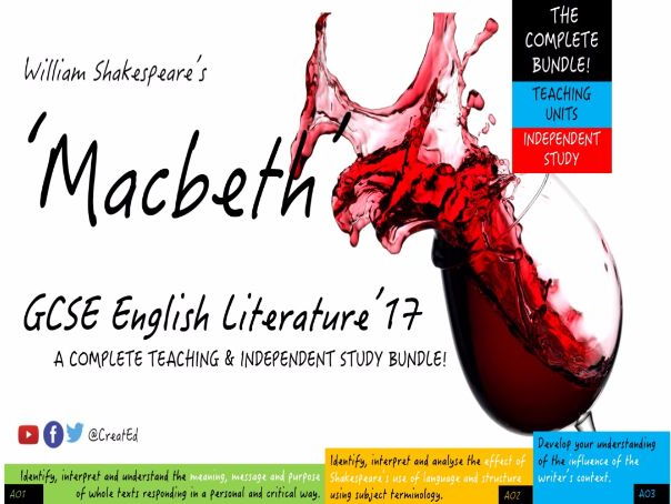 Macbeth, Shakespeare. COMPLETE BUNDLE! 5-6 x Weeks TEACHING & 11 Independent Study Guides (ebooks)