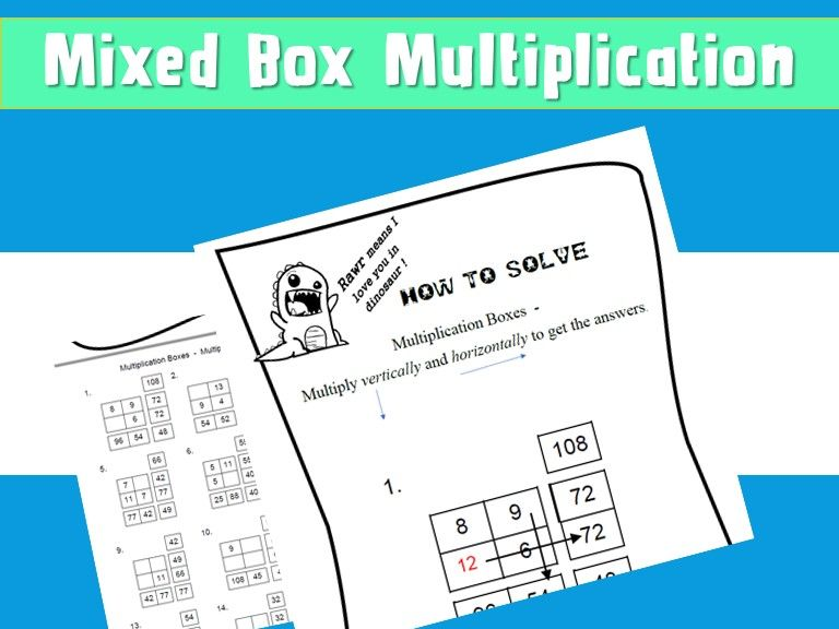 Free Box Method Multiplication Worksheet Answers