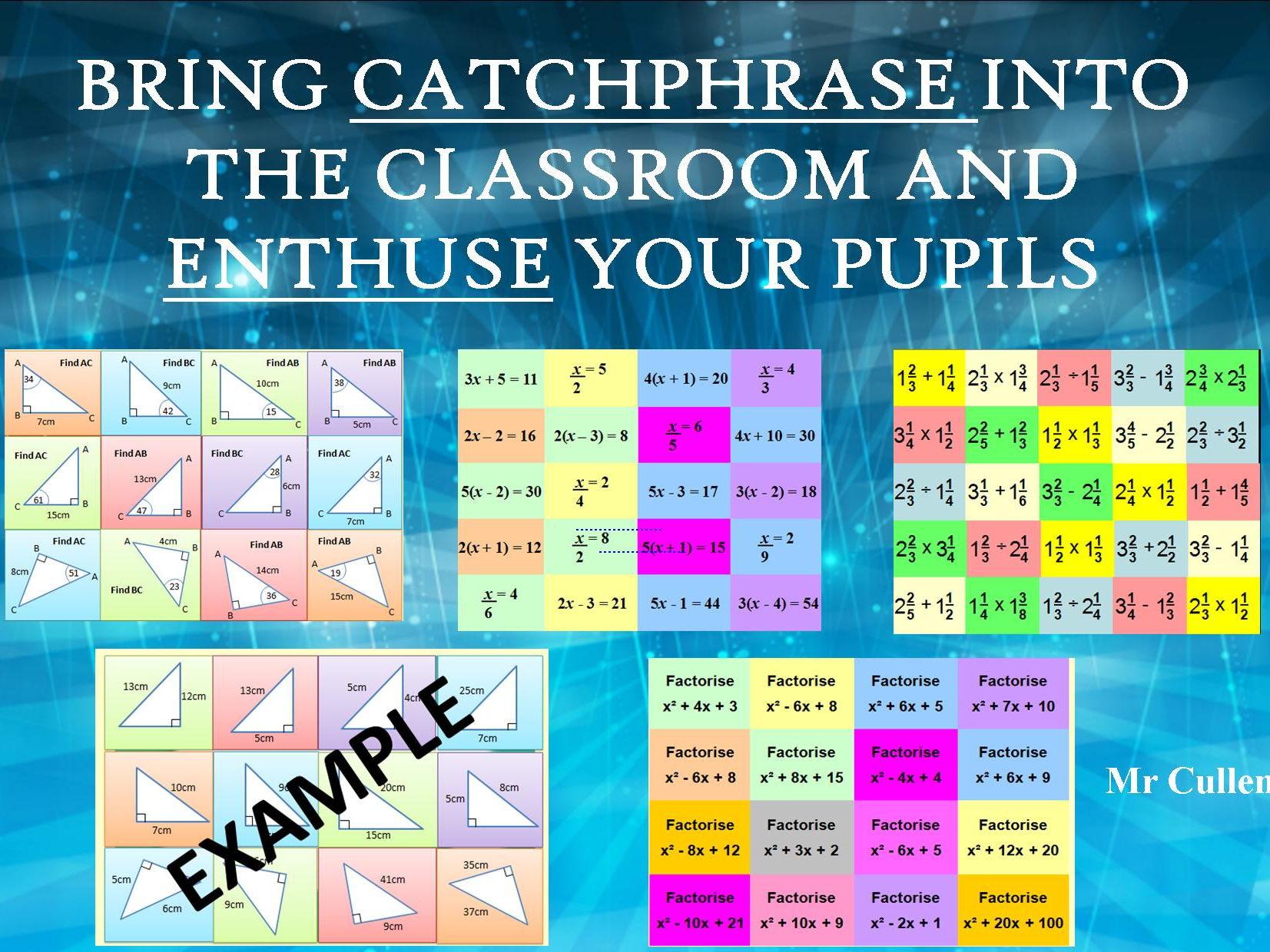 GCSE Revision and Catchphrase activities