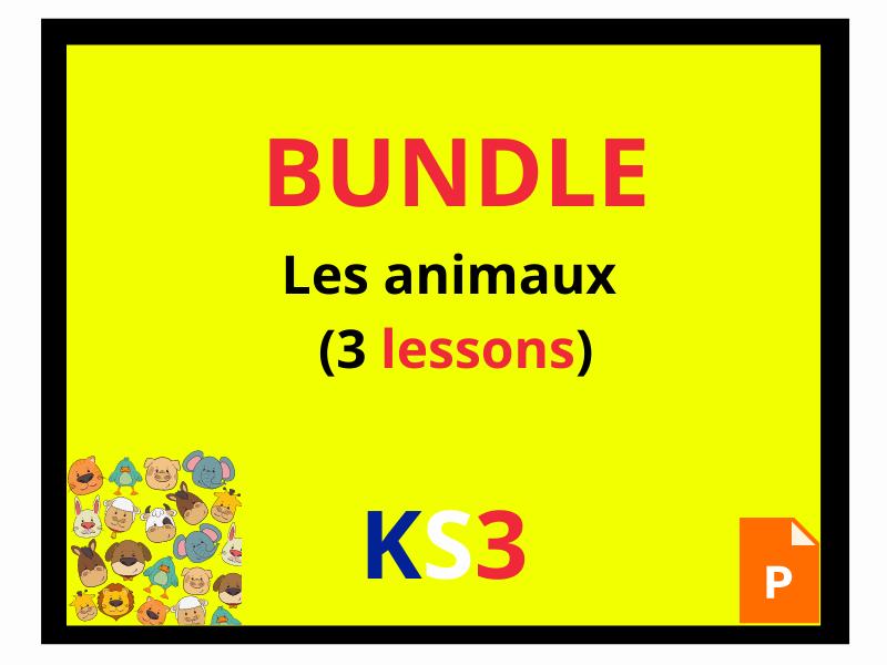 French KS3 mon animal préféré