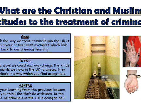 AQA A GCSE Theme E Religion, Crime and Punishment: Lesson 4 How are criminals treated?