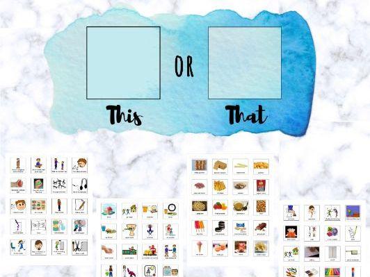 """This or That"" Choice Card"