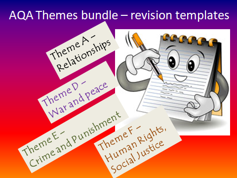 REVISION TEMPLATES FOR AQA GCSE RS THEMES A,D,E,F
