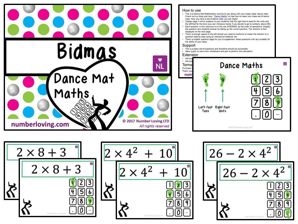 BIDMAS (Dance Mat Maths)