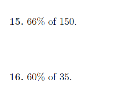 Percentages worksheets (with solutions)
