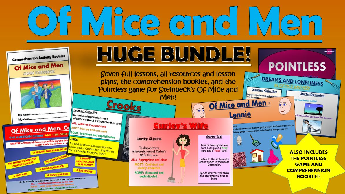 Of Mice and Men Huge Bundle!