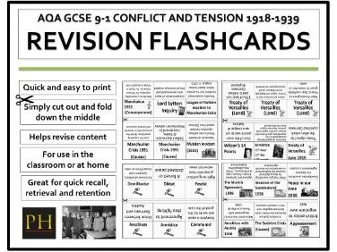 Conflict and Tension Revision Flashcards AQA 9-1