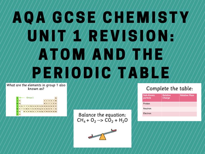 AQA GCSE Chem Unit 1 Revision Lesson