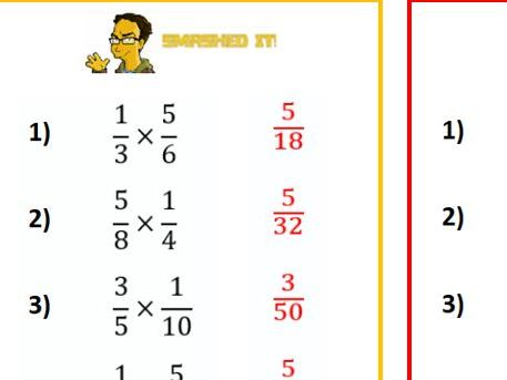 Multiplying Fractions-Differentiated worksheet