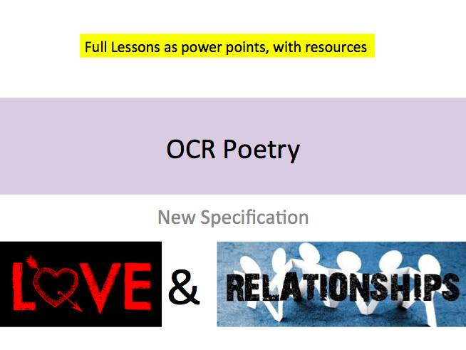 OCR Love and Relationships