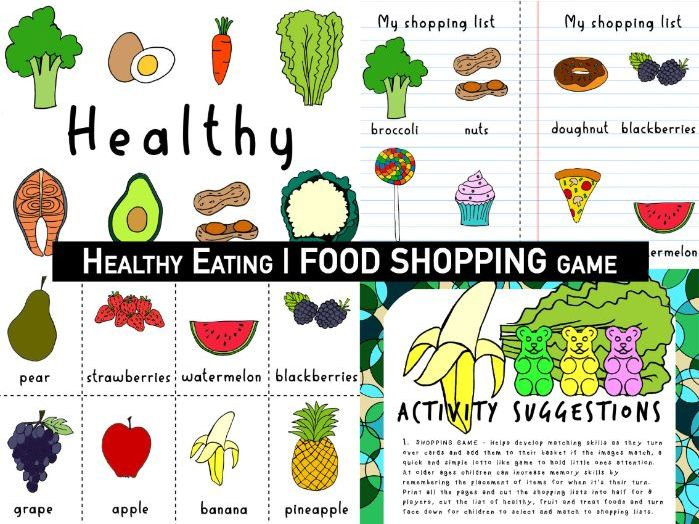 Healthy Eating |  | EARLY YEARS FOOD | SHOPPING game