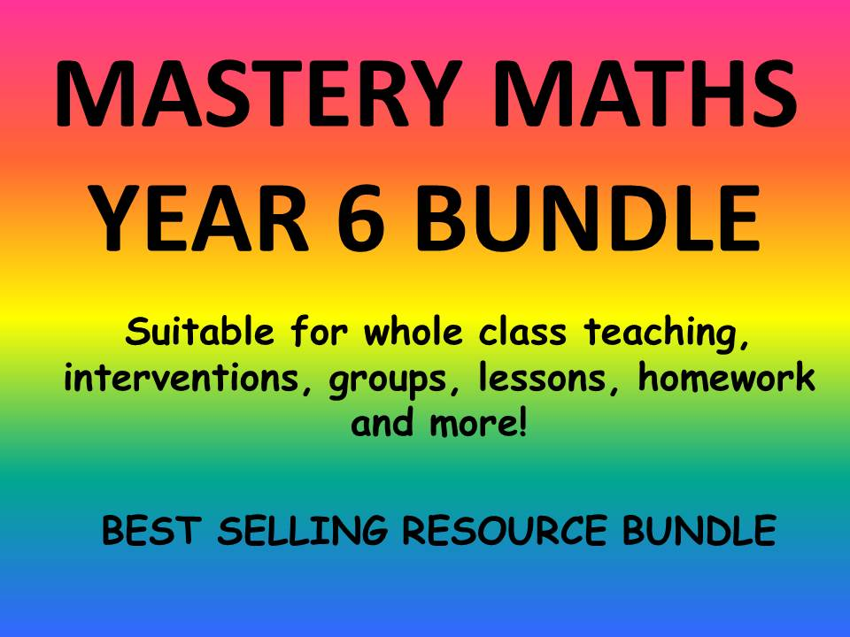 YEAR 6 MATHS MASTERY BUNDLE