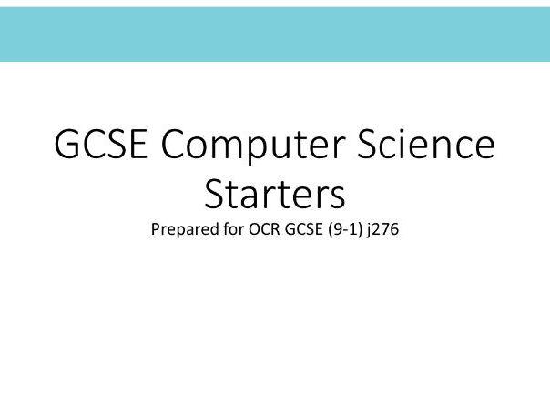 GCSE Computer Science Starters for OCR GCSE (9-1) J276