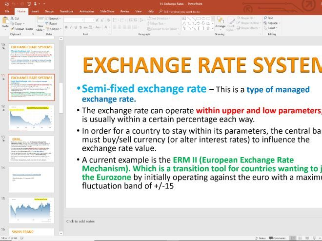 14. Exchange Rate Systems (Slides, Activities and Notes) - Edexcel A-Level Economics - Theme 4