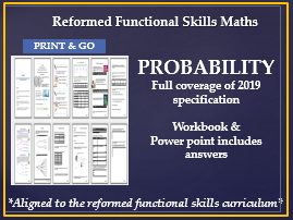 Reformed functional skills maths probability