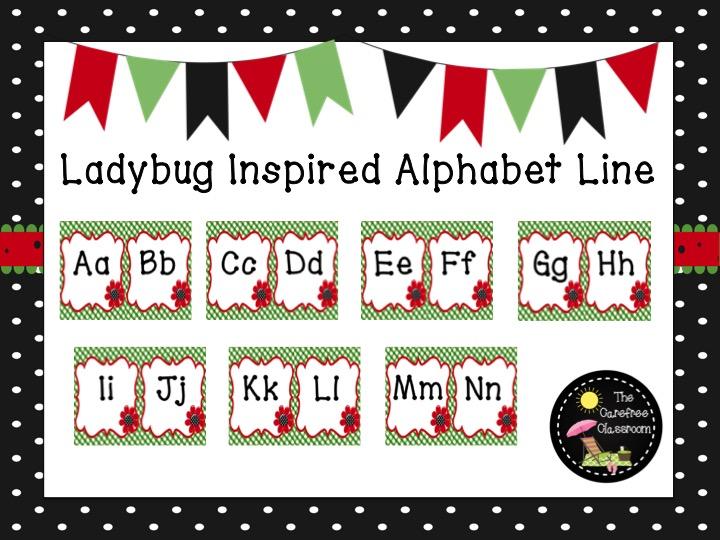 Alphabet Line: Ladybug Themed