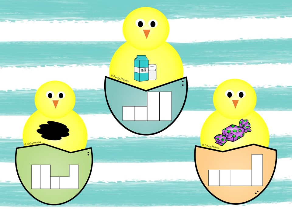 Phonics Phase 4 Easter/Spring Phoneme Frames (Chick and Egg)
