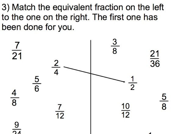 KS2/KS3 Maths - Fractions test with answers