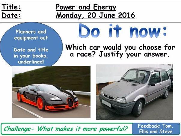 GCSE Physics: Power and Energy