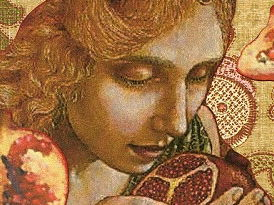 Persephone and the pomegranate seeds