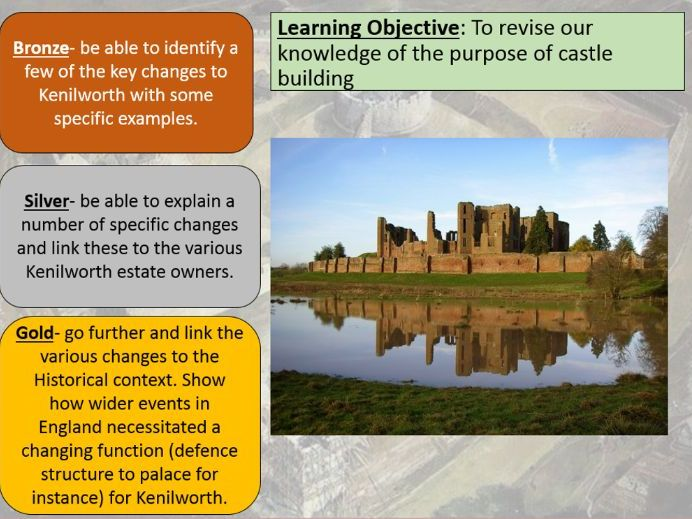 OCR Castles Form and Function Revision- Story of Kenilworth