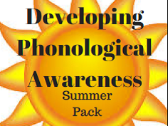 Phonological Awareness - Syllables, Rhyme and Phonemes - Summer Pack