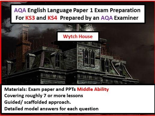 AQA GCSE English Language Paper 1 Exam Preparation For KS3 and KS4--Middle Ability