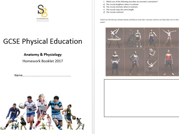 GCSE PE AQA 1-9 - Homework assessment tasks (all topics)
