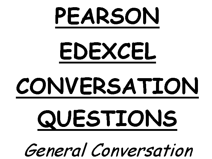 GCSE German Conversation Questions Stimmt Edexcel Higher