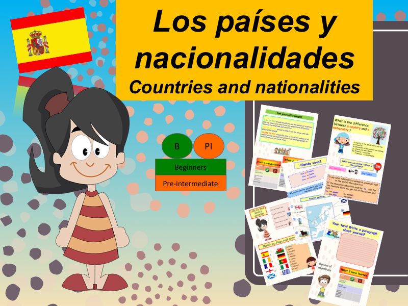 Learn about Spanish country and nationality (lesson + Exercices)/ Los paises y nacionalidades