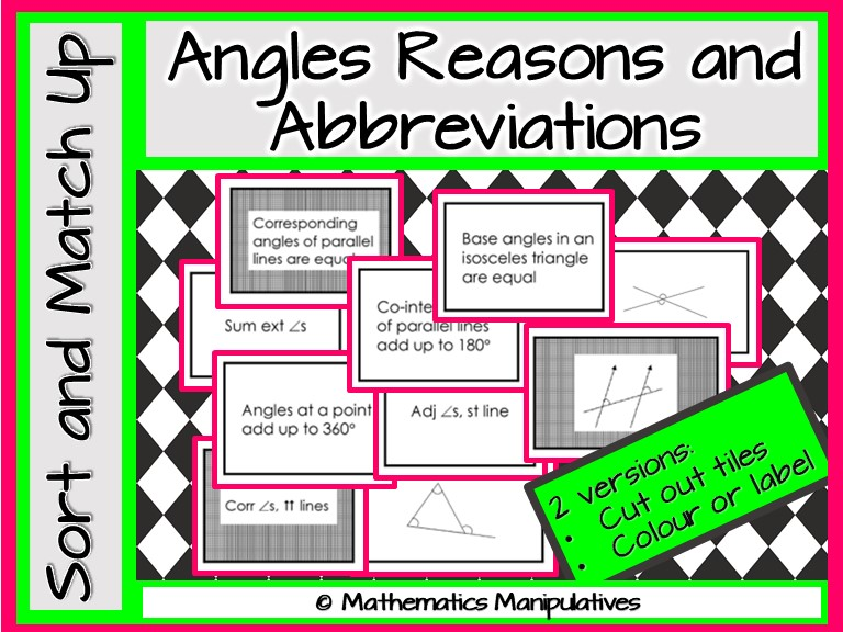 Geometric Reasons and Abbreviations Match-Up
