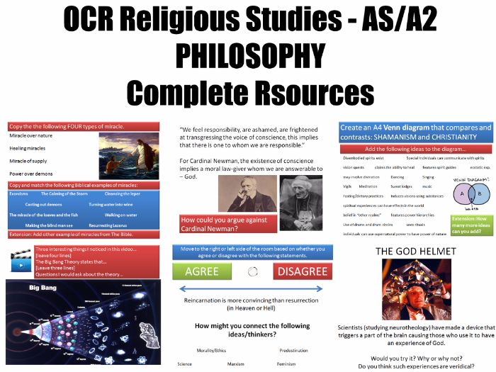 Complete KS5 Philosophy Resources for OCR Religious Studies [Over 200 files]