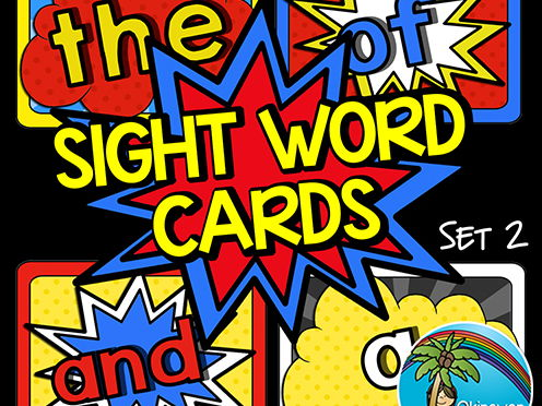 Superhero Sight Words Set 2