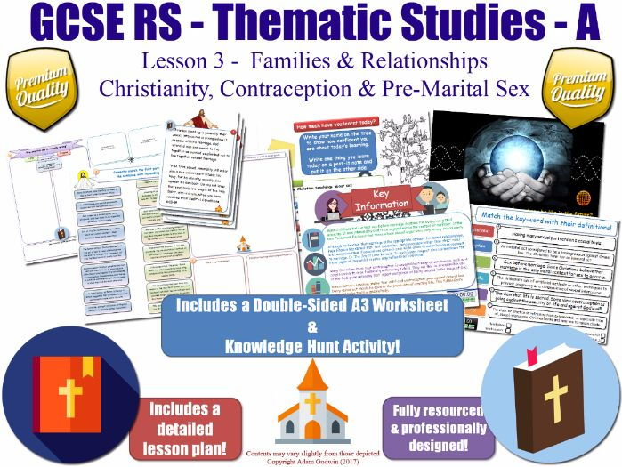 Sex, Pre-Marital Sex & Contraception [GCSE RS - Relationships & Families - L3/10] (Christianity)