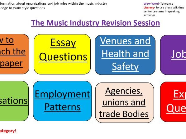 The music industry revision PPT