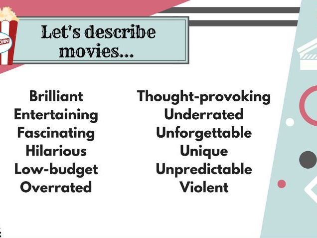 Movies - Adjectives