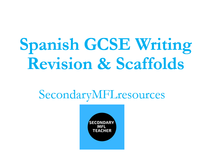 GCSE  Spanish Writing Questions & Scaffolds