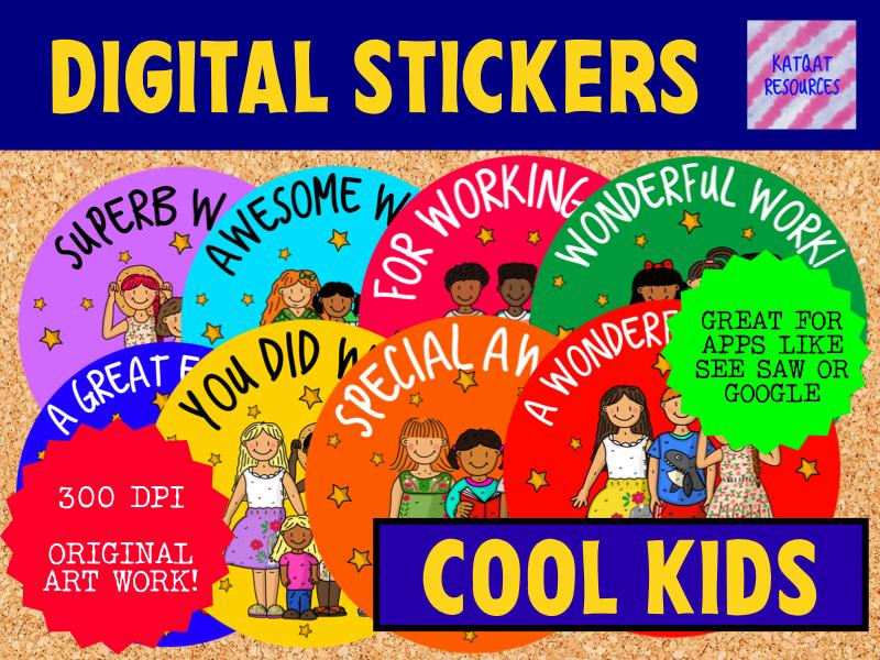 Digital Stickers - Kids - Motivational Digital Stickers - Online Learning