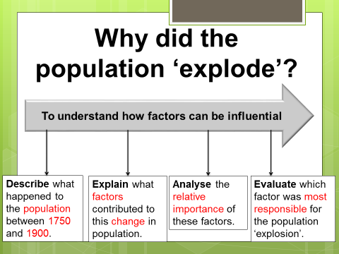 Why did the population 'explode'? (Industrial Revolution)