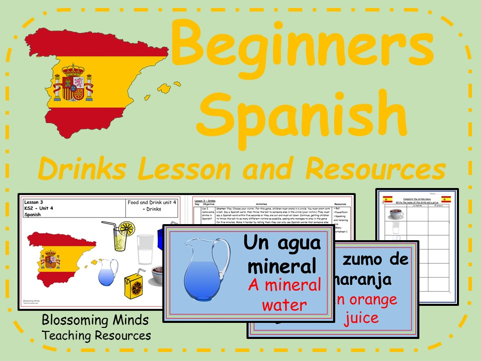 Spanish Lesson and Resources - KS2 - Drinks