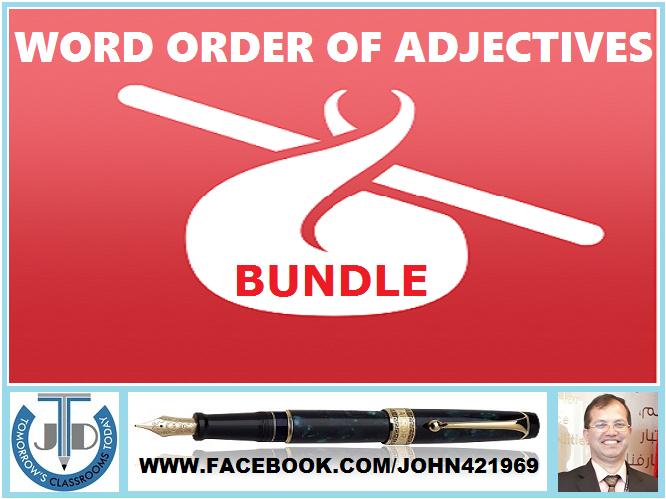 WORD ORDER OF ADJECTIVES: BUNDLE